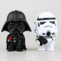 Wholesale 2pcs set New hot sale anime figure Q version of Star Wars Darth Vader white cavalry toys CM gift for children