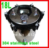 autoclave steam pressure - L portable stainless steel pressure steam Autoclave sterilizer auto claves XFS A