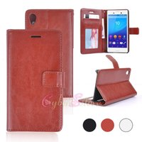 aqua card - For Sony Xperia M4 Aqua Retro Wallet Leather Phone Case Cover with Card Slot Photo Frame Money Pocket for Sony M4