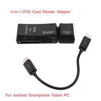 Wholesale 4 in OTG Secure Digital Memory Card MMC MS M2 Card Reader Adapter for Android Smartphone Tablet PC with Micro USB OTG Function