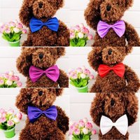 Wholesale Dog Neck Tie Dog Bow Ties Cat Ties Supplies Pet Headdress adjustable bow ties color mix