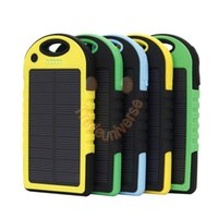 Cheap TOP! Universal 5000mAh Solar Charger Waterproof Solar Panel Battery Chargers for Smart Phone PAD Tablets Camera Mobile Power Bank
