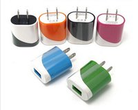 Wholesale Colorful US EU Plug USB Power Wall Home Travel Charger Adapter For iPhone Plus S S Smartphone