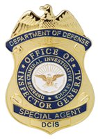 Wholesale US DEPARTMENT OF DEFENSE SPECIAL AGENT DCIS METAL BADGE