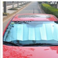 Wholesale 60X130cm automobile sunshading board aluminum film bubble shading block before the sun block printed aluminum foil sunshade Automobile suns