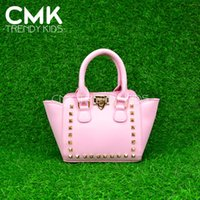 bag studs - CMK KB124 Shinning Glitter Rock Stud Bag for Kids Girls Colors Available Pebble PU Leather Mini Size with High Quality Studs Fashion Kids