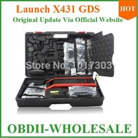achat en gros de x431 complète-Gros-DHLfree expédition 2014 outil de diagnostic gds x431 scanner Lancement X431 GDS X-431 gds pour voiture / camion Version ensemble complet sur la vente