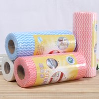 Wholesale cm Kitchen Towels Cleaning Cloths Non woven Fabrics One time Use Magic Dish Cloth bag QCY