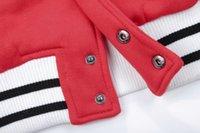 al por mayor letras de equipo universitario-RIHANNA mayor-Manera del equipo universitario de la chaqueta de cuero chaqueta de manga larga bordado Carta de una letra de béisbol para las mujeres AY545