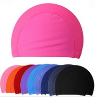 Wholesale Fashion Mens Candy colors Swimming caps unisex Swimming caps Nylon Cloth Adult Swimming Caps waterproof bathing caps LJJD2769