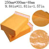Wholesale 20 pack Large Golden Kraft Bubble Mailers Padded Envelopes Air Bag Trabsport Packing mm jk7103