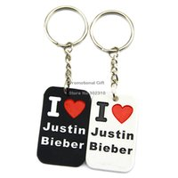 away love - Drop Shipping I Love Justin Bieber Silicone Keychain For Give Away Gift Colours