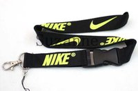 Wholesale New black yellow lanyard Lanyards Neck Strap Keys Camera ID Card Lanyard with detachable clasp