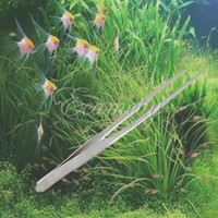 Wholesale Professional cm inch Stainless Steel Aquarium Long Straight Tweezer Aquatic Shrimp Reef Plant Grass