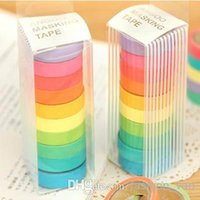 Wholesale New high quality bright candy solid color masking tape paper tape