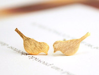 baby tiny stud earrings - 30Pairs S016 Gold Silver small vivid bird pattern Stud Earrings Cute Crane Tiny baby bird earrings stud Animal jewelry for girl