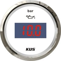 Wholesale 52mm white Digital Oil pressure gauge Instruments bar for marine boat universal stainless steel bezel LED backlight signal ohm