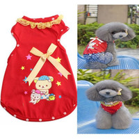 bear costume pattern - Lovely Bear Pattern Fashion Cotton Dog Vest Small Teddy Dog Puppy Fashion Cool Clothes Clothing Costumes