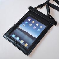 Compra Galaxy tab caja estanca-Bolso impermeable de la bolsa de la caja de la tableta del bolso impermeable con el acollador a prueba de choques a prueba de polvo para el ipad 2 3 4 para el aire 2 del ipad