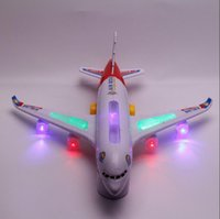 airlines music - A380 Remote Controlled Helicopter Music Model Plane Toys Electronic Universal Direction Airline CM Big Size Best Gift for Kids Retail
