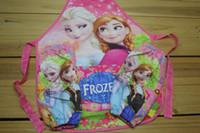 children smock - New Frozen Aprons Set Sanitary Waterproof aprons Frozen Children Aprons Oversleeves Cooking Art Painting Smock Apron