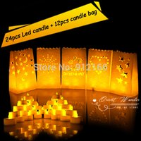 bags led candle - 24pcs led candle candle bag Smokeless flameless candle light flashing Yellow Light inch Candle Lamp weding party