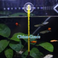 Wholesale High Quality Glass Meter Aquarium Fish Tank Water Waterproof Floating Temperature Thermometer with Suction Cup