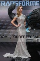 Wholesale Celebrity Dresses Oscar Star Whiteley Silver Sparkly Sequined Mermaid Evening Dresses Sweep Train Custom Made Occasion Dresses