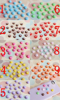 Wholesale 100pcs optional Colors kawaii M bean chocolate cabochons resin Flowers flatback Scrapbook fit bows hair diy craft mm