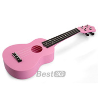 Wholesale 21inch Plastic Ukulele Guitar Instrument Child Kids Toy Gift Pink