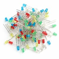 Wholesale 100pcs mm LED Light White Yellow Red Green Blue Assorted Kit DIY LEDs Set New order lt no tracking