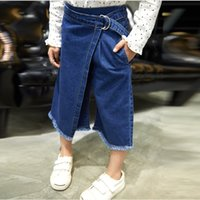 Wholesale 2016 Baby Girls Spring Flare Pants Kids Girl Jeans Fashion Loose Casual Denim Pant Babies Clothes Children s Korean Clothing