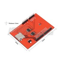 Wholesale 2 inch TFT LCD Shield SD Socket Touch Panel Module for Arduino UNO R3 New YKS