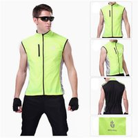 Wholesale WOLFBIKE Green Waterproof Reflective Breathable Windproof Cycling Clothing Bike Bicycle Cycle Vest Sleeveless Jersey Jacket BC204 epacket