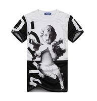 Cheap Spring 2015 new 3D Printed naked baby Jesus t shirt round neck short sleeve men women T-shirt hip hop clothing free shipping