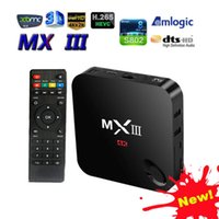 Wholesale MX III MX3 XBMC Kodi QUAD CORE Android Smart TV BOX Media Amlogic S802
