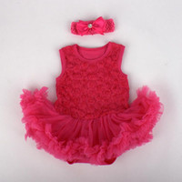 ballet roses - Baby Newborn Kids Rose Sleeveless Tutu Ballet romper dress headband Baby Romper Dress Chiffon Lace D rose Onesies Tutu Skirt Headwrap