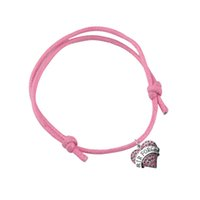 air force ropes - Wax Cord Bracelet Colorful Rope Crystal Heart Charm Bracelets Letter Air Force Adjustable Cord Knot For