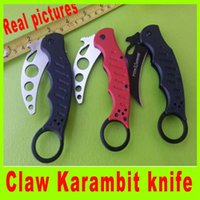 Cheap 3 styles Fox karambit claw Folding knife 440C steel Blade 60HRC hunting camping knife knives tools new in Original box gift 658L