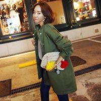 Wholesale 2015 new winter Dongguk door purchasing official website velvet solid fight sleeve cardigan coat female personality