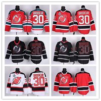 jersey shop - New Jersey Ice Hockey Devils Jerseys Brodeur red white black drop shopping freeshipping