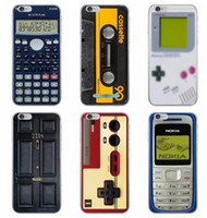 apple machines case - Retro Cassette Calculator Tape Camera Recorder Pattern Soft TPU Case For Iphone S Plus S Ibroke Machine Rhinstone caseology Skin