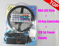 Wholesale DHL free Led Strip Light RGB M SMD Led Waterproof IP65 Key Controller A Power Supply With Box Retail Package Christmas Gifts