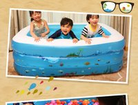 Wholesale newest arrival Size CM Rectangular inflatable certified plastic pool family swimming pool children s bath pool