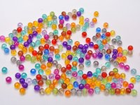 Wholesale 1000 Mixed Colour Transparent Acrylic Round Beads mm Smooth Ball Seed Beads