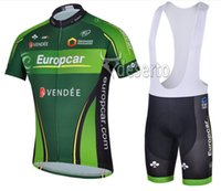 bicycle wear cycling shorts - 2014 EUROPCAR cycling jersey Green cycling clothing cycling wearing bicycle clothing Bib shorts set men breathable quick dry Summer S XL