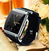 achat en gros de cartes vidéo de musique-2015 montre Smart Watch téléphone cellulaire montre-bracelet Salut Montre 2 Avec Remote Support Bluetooth 2.0MP caméra Dial Musique FM Video carte SIM et carte TF