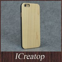 bamboo phone cases - Eco friendly wood wooden case for iphone plus plus original ecology bamboo wood cover Shockproof Hard wood phone shell freeshipping