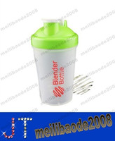 blender bottle - Colored Blender Bottle protein Shaker Mixing bottle with Wire whisk ML MYY13187A