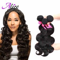 alice products - 7A Unprocessed Malaysian Virgin Hair Bundles Alice Queen Hair Products Brazilian Body Wave hair Mix Length quot Natural Color hair b